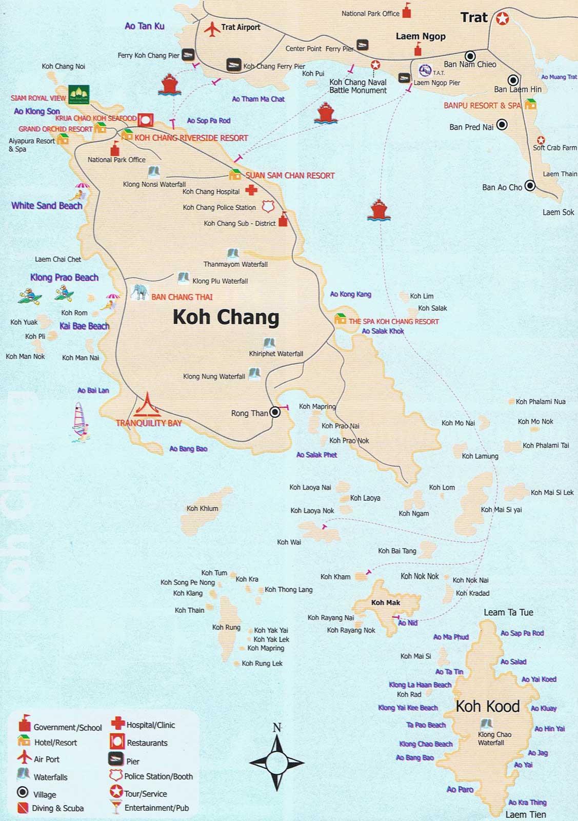 Etajlandia Mapy Tajlandii